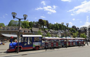 <p>The little train of La Roche</p>-Train touristique to Province of Luxembourg