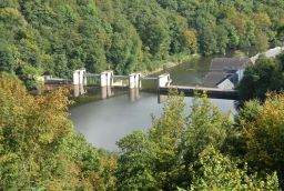 Barrage et Lac de Nisramont in Province of Luxembourg