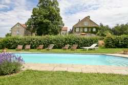 Authentic holiday house with pool for 14 pers. to rent in Dinant