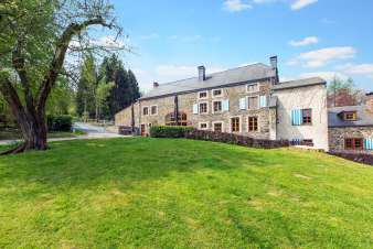 Mill renovated into holiday cottage to rent in the woods of Gedinne