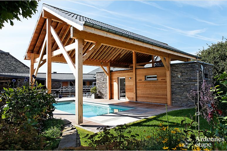 Farm holiday in cottage with pool and wellness area in Lierneux
