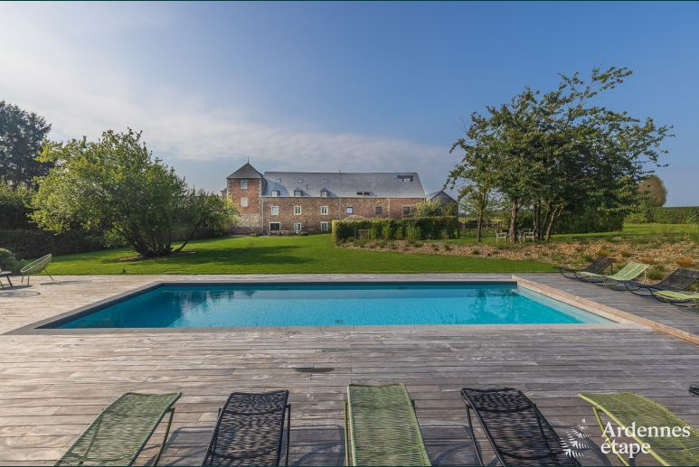 3.5-star rental holiday château with swimming pool to rent in Ohey