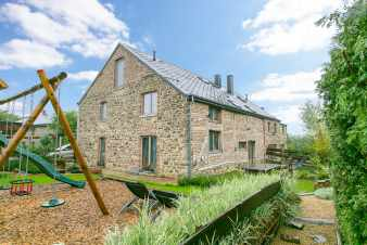 Old farmhouse transformed into cosy holiday cottage with outdoor pool in Rendeux