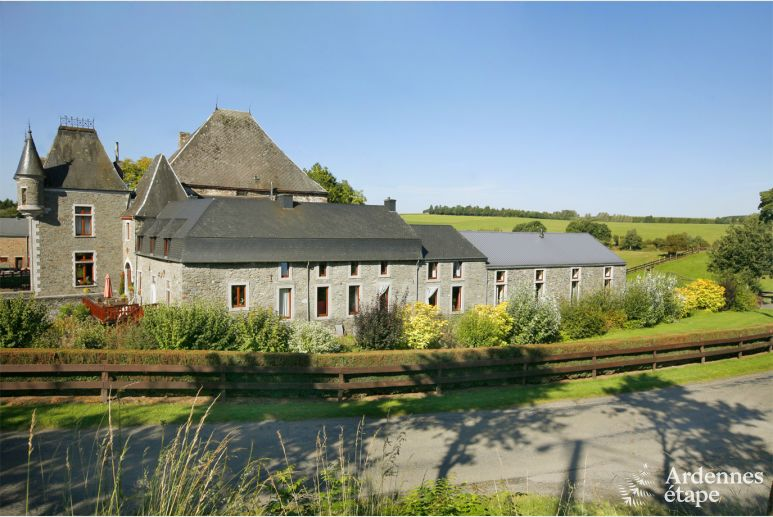 Sublime holiday house for 10/12 persons in a castle-farm in Sainte-Ode