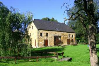 Authentic holiday house of local stone for 10 persons in Sprimont